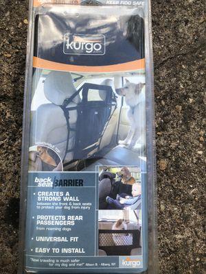 Kurgo backseat barrier new in package for Sale in Moorestown, NJ
