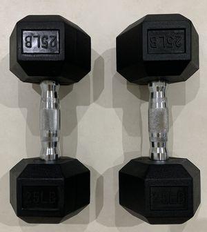 Brand New Pair of Dumbbells 25 lbs each. Reasonable offers considered. Par de mancuernas nuevas de 25 libras. for Sale in Miami, FL