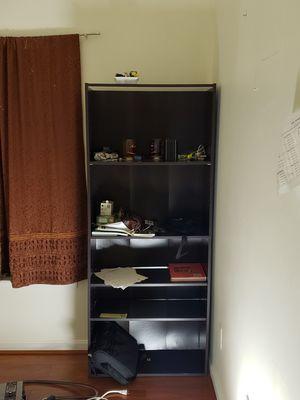 Black wooden 5 shelf organizer for Sale in Herndon, VA