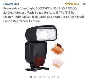Speedlight 600EX-RT GN60 HSS 1/8000s 2.4GHz Wireless Flash Speedlite auto E-TTL/E-TTL ll master radio slave flash same as canon 600EX-RT for all can for Sale in Corona, CA