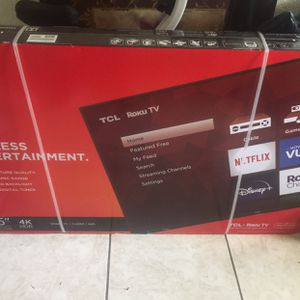 "TCL 55"" Class 4K UHD LED Roku Smart TV HDR for Sale in Miami, FL"