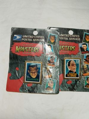 1997 USPS Monster series stamp pins for Sale in St. Petersburg, FL