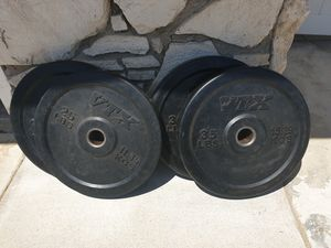 VTX Olympic bumper plates 25s 35s for Sale in Placentia, CA