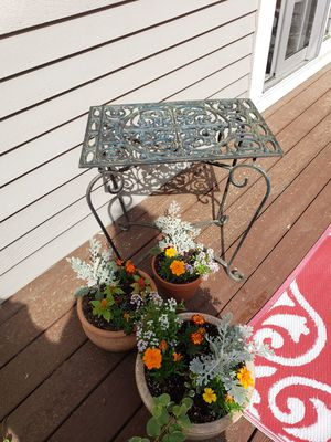 Rod Iron Garden Tray Table for Sale in Bedford, MA