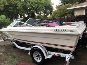 85, mercusier SEARAY. Great fishing boat. Most of engine is new small bracket for shifter is tight I'd replace it front wheel is bent. It runs rea for Sale in Sacramento, CA