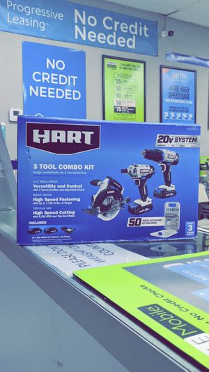 HART 20-Volt 3-Piece Combo Kit with 50-Piece Accessory Kit (2) 20-Volt 1.5Ah Lithium-Ion Batteries! Brand New in Box! for Sale in Arlington, TX