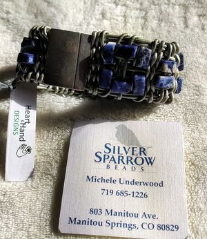 Bracelet - Handmade Sodalite and leather for Sale in Colorado Springs, CO
