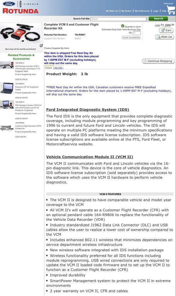Genuine Rotunda/Ford VCM II Kit for Sale in Sacramento, CA - OfferUp