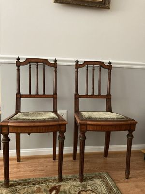 Pair of French Antique Louis XVI chairs for Sale in Vienna, VA