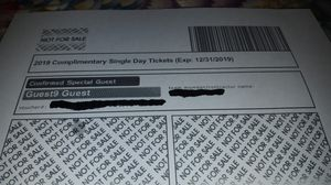 Busch Gardens: 6 single day complimentary tickets. for Sale in Newport News, VA