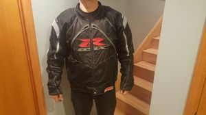 Icon contra suzuki gsxr motorcycle riding jacket 3XL for Sale in Romeoville, IL