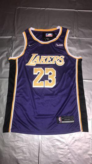 LEBRON JAMES NIKE LAKERS Men's SWINGMAN Basketball Statement Jerseys NEW Yellow Purple White Sizes S, M, L, XL, XXL for Sale in Dallas, GA