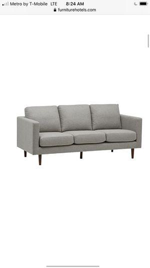 Rivet revolved modern upholstered sofa for Sale in Columbus, OH