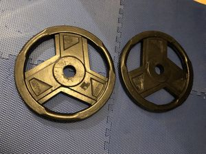 A pair of 45lbs Olympic size weight plates for Sale in Los Angeles, CA