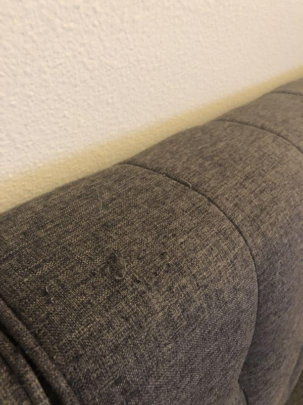 *PENDING PICK-UP* Gray Linen Futon Sofa