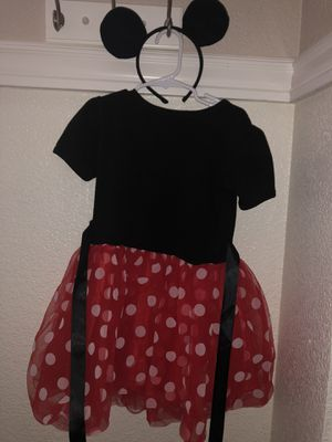 Minnie Mouse Dress with Ears Headband size 3T for Sale in Stockton, CA