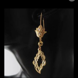 24K Gold Plated Dangle Earrings Parts Charm Choker Dangler Tall Earrings for Sale in Queens, NY