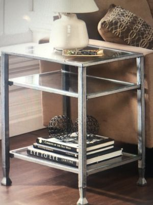 Carbon Loft Glenn Silver Metal and Glass End Table for Sale in Nashville, TN