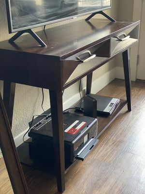 Brown wood TV stand for Sale in Golden, CO
