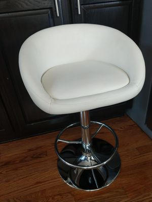 """White Swivel Height Adjustable Contemporary Stool 23"""" Low to 32"""" High for Sale in Arvada, CO"""