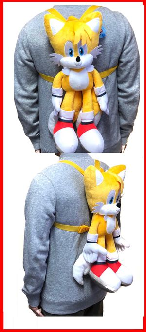 NEW! Sonic The Hedgehog TAILS soft plush toy Backpack stuffed toy cartoon anime movie video games kid's bag Sega for Sale in Carson, CA