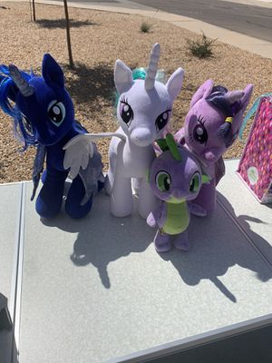 My little Pony Build-A-Bear plushies for Sale in San Tan Valley, AZ