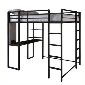 DHP 5457196 Abode Full-Size Loft Bed Metal Frame with Desk and Ladder, Black for Sale in Gilbert, AZ