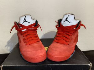 Air Jordan Red Suede 5'S!! for Sale in Phoenix, AZ