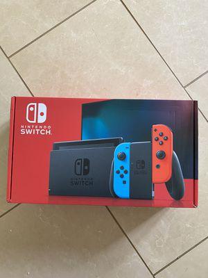 Nintendo Switch Console Neon Blue & Red Joy-Con for Sale in Fairfax, VA