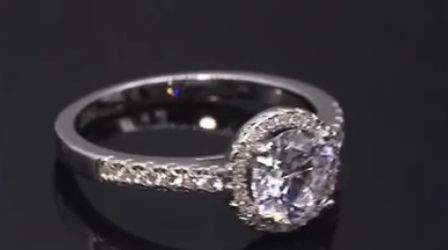 Beautiful 925 Sterling Silver Diamond Promise Engagement Wedding Ring With Fancy Box for Sale in San Jose,  CA