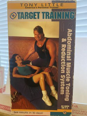 Tony Little Target Training Abdominal Muscle Toning & Reduction System VHS 📼 Vintage for Sale in Albuquerque, NM
