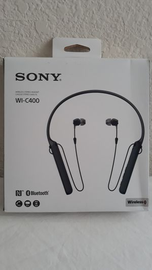Sony Bluetooth Headphones 20 Hours Battery Life WI-C400 Model for Sale in Richardson, TX