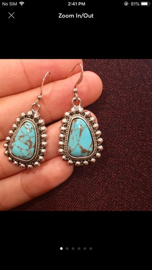 Sterling silver plated 925 stamped turquoise earrings for Sale in Silver Spring, MD