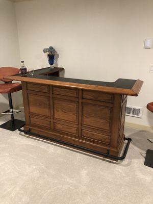 Oak bar and mirror for Sale in Kirkland, WA
