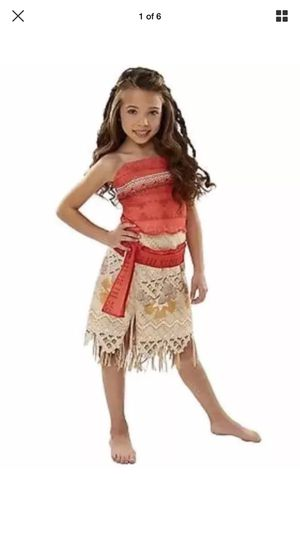 Cute Disney Hawaiian MOANA Costume Dress Up Outfit 4-6X for Sale in Apopka, FL