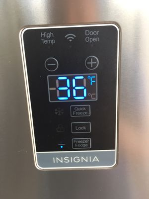Insignia freezer and refrigerator currently connected for showing works perfect extremely clean for Sale in Bell, CA