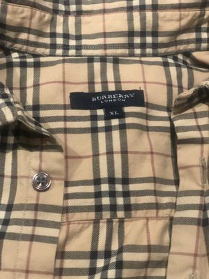 Vintage Authentic Burberry biege button up shirt sleeve for Sale in Oakland, CA
