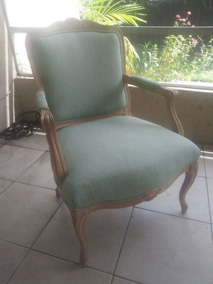 Blue upholstery arm chair for Sale in Fort Lauderdale, FL