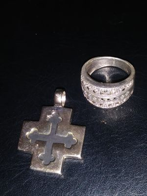 Pendant and ring (925) silver. for Sale in Turlock, CA