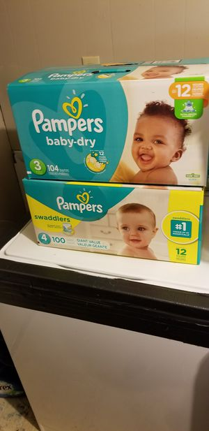 Pampers size 3 and 4 brand new in box for Sale in Nashville, TN