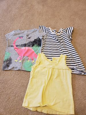 4T girl's sort sleeved shirts (lot of 3) for Sale in Frederick, MD