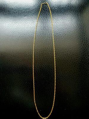 """18k Peruvian Gold Chain 22"""" Brand New for Sale in Alexandria, VA"""