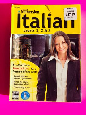 Instant Immersion Italian Levels 1,2, and 3. for Sale in AZ, US