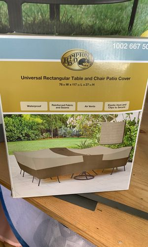 Hampton Bay universal rectangular table and chair cover for Sale in Austin, TX