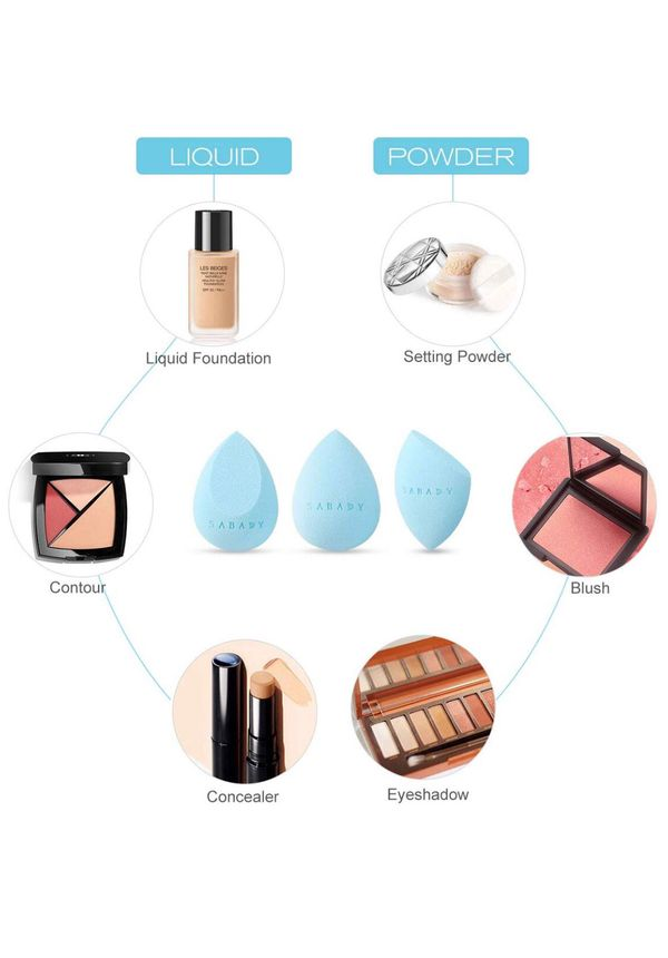 3+1 MAKEUP Beauty Sponge Blenders Set With Travel Cases,RoseGold Holder, Multi-shaped,Durable,Soft,Latex-free Blending Sponges Perfect for Foundation