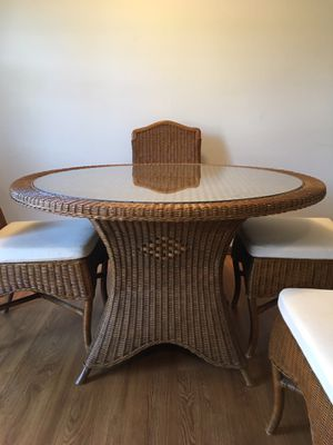 Dining Table and 4 Chairs w/removable cushions for Sale in La Grange Park, IL