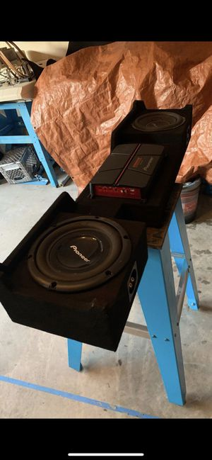 Subs for F150 with AMP for Sale in Colorado Springs, CO