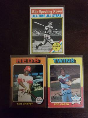 70s Baseball 3 Card lot. for Sale in Lodi, CA