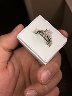 1/2 ct diamond weight, white gold wedding ring set, size 8 for Sale in San Leandro, CA
