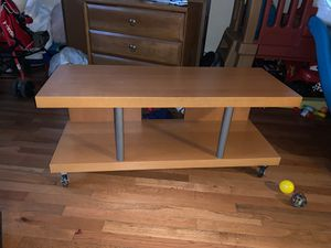 Tv stand with wheels for Sale in San Jose, CA